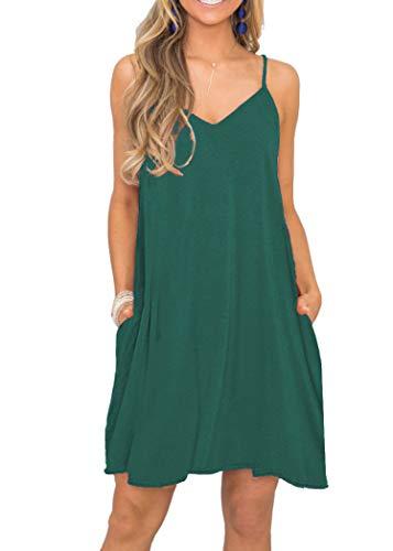 YESNO Women Casual Loose Bohemian Floral Print Dresses Empire Waist Spaghetti Strap Long Maxi