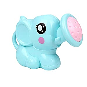 Baby Toys Baby Bathing Water Toy Elephant Shower Parent-Child Interactive Toy Cute Baby Bath Animals Toys Shower Kid's Water Tub Bathroom Playing Toy Gifts (Blue)