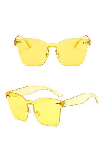 Gafas de Sol Sunglasses Gafas De Sol De Diseñador Mujer Gafas De Sol Retro Hombres Gafas Cuadradas Mujeres/Hombres Amarillo