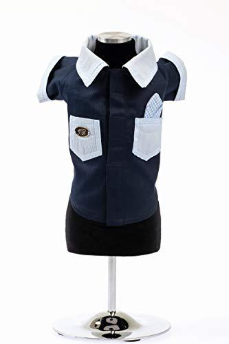 Trilly Tutti Brilli Piqué blouse met zakken in contrasterende kleur blauw - 1 product