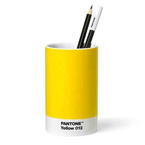 Pantone Yellwo 012 - Organizador de escritorio (porcelana), color amarillo