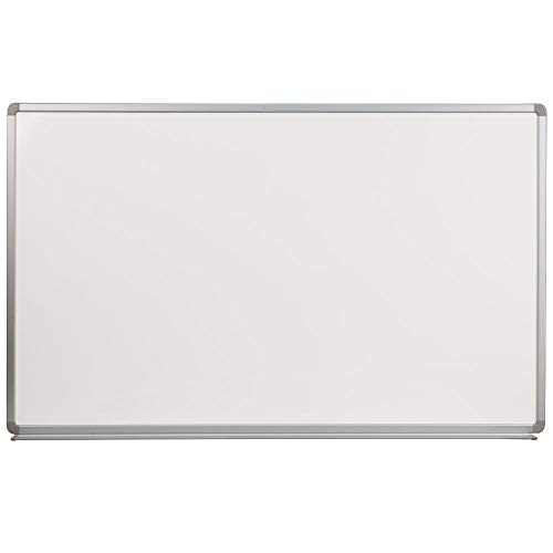 Flash Furniture 5' W x 3' H Porcelain Magnetic Marker Board