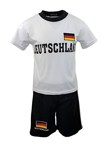 Fussball Fan Set Deutschland Germany Trikot + Shorts, Gr. 104, js882.4