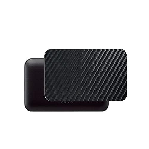 VacFun 2 Piezas Protector de pantalla Posterior, compatible con docomo Wi-Fi STATION HW-01H WIFI, Película de Trasera de Fibra de carbono negra Skin Piel