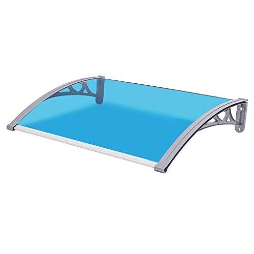 Regendicht deurmarkies Luifels Deur Luifel Luifel, Blauwe Deur Canopy Transparante Luifel Shelter Dak Voorkant Back Porch Outdoor Shade - Grootte: 60 * 60/80/100/120 / 150cm (Maat: 60 * 100cm), Size N
