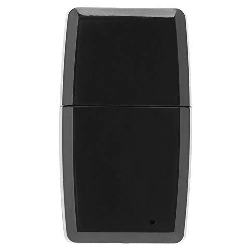 FOLOSAFENAR Receptor Bluetooth Compatible con Receptor estéreo inalámbrico de fácil Control Compatible con la mayoría de los Dispositivos Android e iOS(Black, Android)