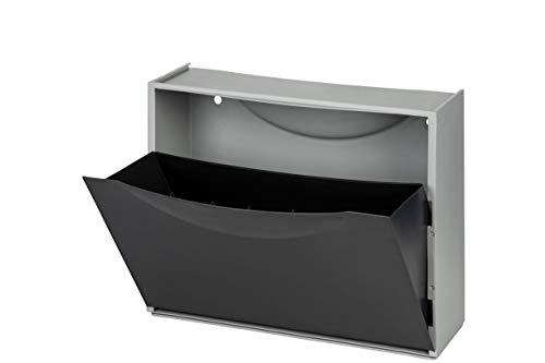 Kreher Schuhkipper, Schuhschrank, Schuhbox aus Kunststoff in Schwarz. Fasst ca. 3 Paar Schuhe. Flexibel erweiterbar, abwaschbar und leicht zu reinigen.