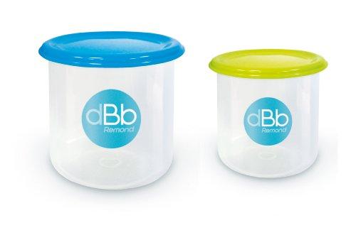 dBb Remond Set 2 Pots de Congélation - Contenance 190 ml et 300 ml