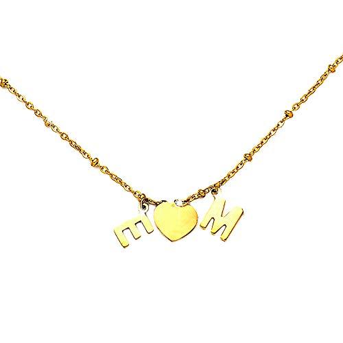 Beloved Collana componibile con sferette in acciaio – personalizzabile fino a 15 lettere e simboli pendenti – nome, parola, iniziali, simbolo – colore gold (2 Lettere/Simboli)