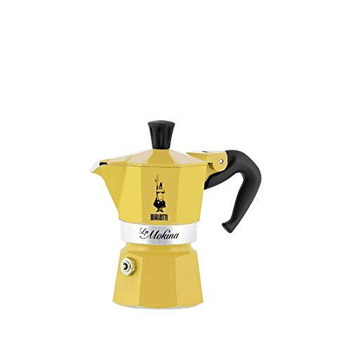 Bialetti Cafetera Mokina 1 taza amarilla 1 tazas