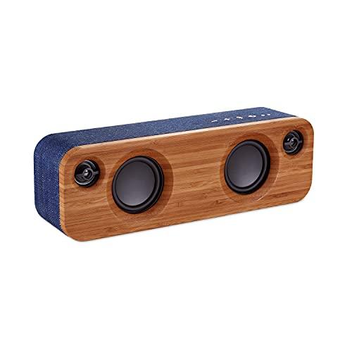House of Marley Get Together Mini, tragbare Bluetooth Box, 2,5 Zoll Subwoofer & 1' Hochtöner, 10 Std. Akkulaufzeit, Aux-In, Laden per USB, Lautsprecher Telefonie für iPhone, iPad, Samsung etc, denim
