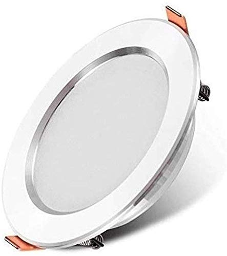 Dkdnjsk Embedded White Ultra-Thin LED Downlight de 4.6 pulgadas Lámpara de techo empotrable Lámpara de panel redonda Lámpara de panel redonda IP44 Downlights de fundición de cromo Acabado de cromo Spo