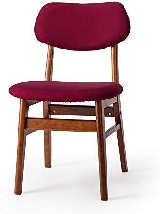 YLCJ kruk van stof, afneembare stoelhoezen van badstof, massief hardhout, zacht, voor slaapkamer, kleur: groen Wijn Rood