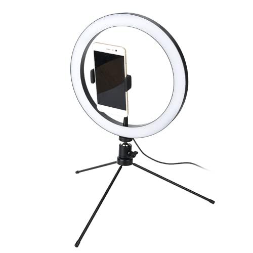 Qinyayoa Luce ad Anello dimmerabile, Kit di luci ad Anello per treppiede Pieghevole per Studio per Esterni per la Fotografia