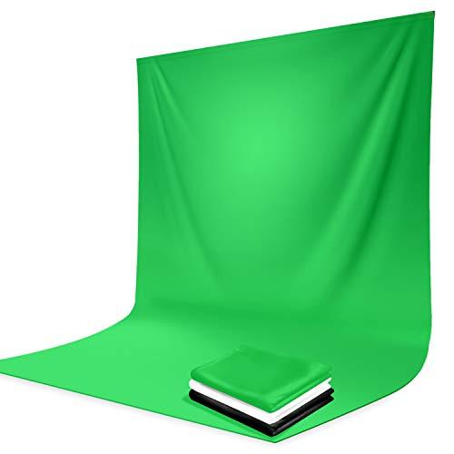 LimoStudio 10 x 12 Black & Green & White Chromakey Fabric Backdrop Background Screen, Photo Video Studio, AGG1933V2