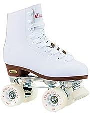 حذاء تزلج مبطن من الجلد الممتاز للنساء من شيكاغو - حذاء تزلج رباعي العجلات بلون ابيض