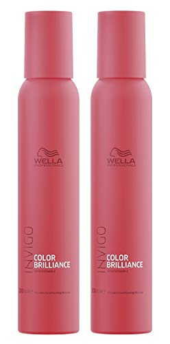 2er Color Brilliance Conditioning Mousse Invigo Wella Professionals mit Vitaminen angereichert je 200 ml = 400 ml