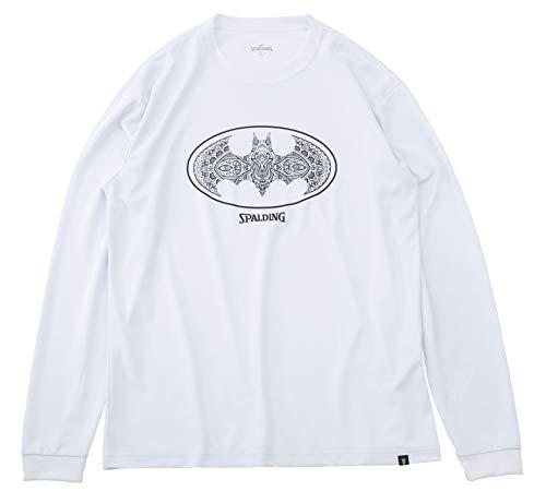 SPALDING(スポルディング) バスケットボール ウェア ロングスリーブTシャツ バットマン ダマスクロゴ SMT191360 Lサイズ バスケ バスケット SMT191360 L