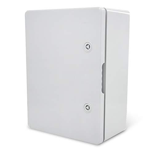 KOOP Elektro Schaltschrank Industriegehäuse IP65 verzinkter Montageplatte Verriegelung Tür mit umlaufender Dichtung Wandgehäuse Gehäuse Leergehäuse ABS Kunststoff leer Schrank 250x350x150 25x35x15
