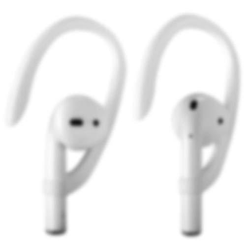 Earhooks per AirPods 1 AirPods 2 e AirPods Pro, ICARERCASE Headset Ear Hooks per attività sportive per Apple AirPods 1, AirPods 2 e AirPods Pro (Bianco)