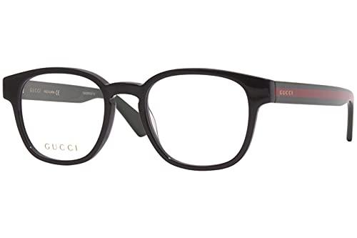 Gucci GG 0927O 001 - Gafas rectangulares (plástico, 49 mm), color verde
