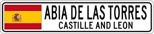"YYone ABIA DE Las Torres, Castille and Leon - Spain Flag City Sign - 4""x18"" Sign"