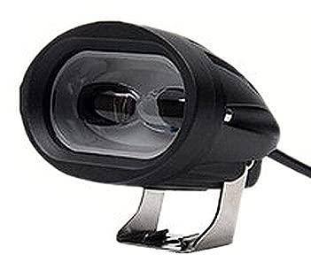 JSJJAUJ Recargable Faro de la Motocicleta Super Brillante Lámpara de Trabajo LED Spotlight 3000lm 6D Accesorios de Moto 3000K 6000K Motor Faro 12V (Color : White)