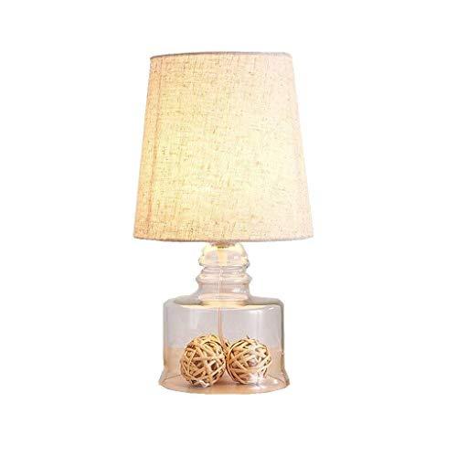 ViewSys Lámpara de noche, Lámparas de mesa, personalidad simple Glass LED luces moderno minimalista sala de estar estilo dormitorio Estudio de noche, lámpara de iluminación decorativa, S lectura luz d