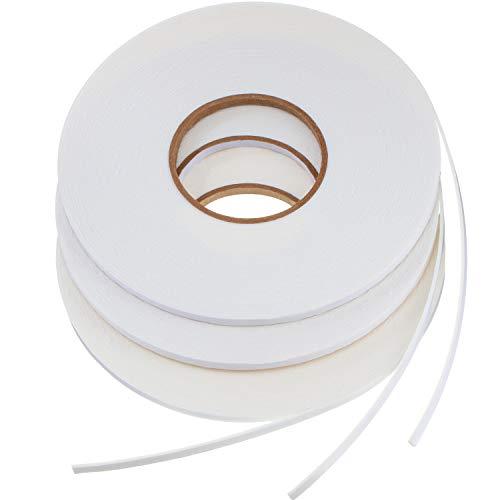 3 Rolls Double Sided Foam Tape White PE Roll Foam Tape Double Faced Sponge Adhesive Mounting Tape (1/4 Inch by 50 Feet)
