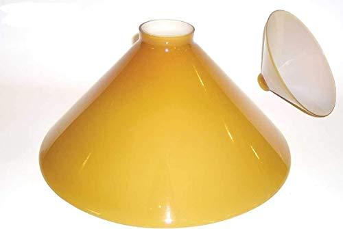 Paralume Vetro ricambio LAMPADA da studio Verde interno bianco opaline