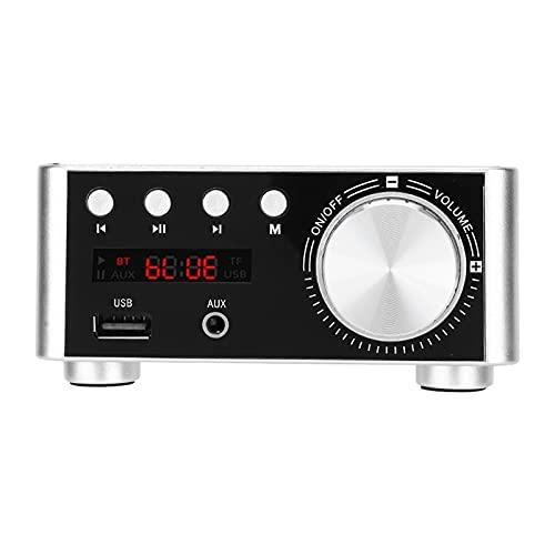 Amplificador de áudio, garantia de qualidade do player de cartão de memória Digital sem ruído auditivo 30W X 2 e 4 ohms para AMP(Prata)