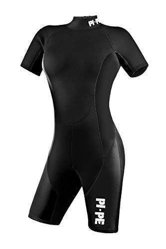 PI-PE Damen Neoprenanzug Pure, Schwimmanzug, Tauchanzug, Shorty (Schwarz, L)