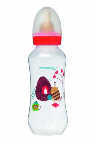Bébé Confort - Biberón (polipropileno, 360 ml, con tetina M2 de caucho natural con flujo regulable), multicolor
