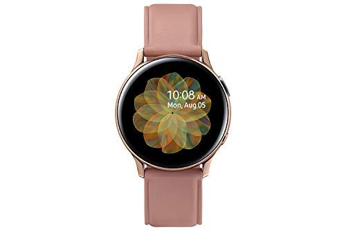 Samsung Galaxy Watch Active2, Fitnesstracker aus Edelstahl, großes Display, ausdauernder Akku, wassergeschützt, 40 mm, Bluetooth, Gold