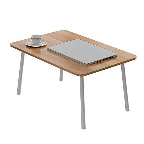 con Ruedas Sofá Mesa Lazy Mesa de Estudio Plegable pequeña, Mesa portátil Simple, Mesa de Desayuno móvil (60x40 x 29 cm) Dos Opcionales (Size : Round Leg Folding Table)