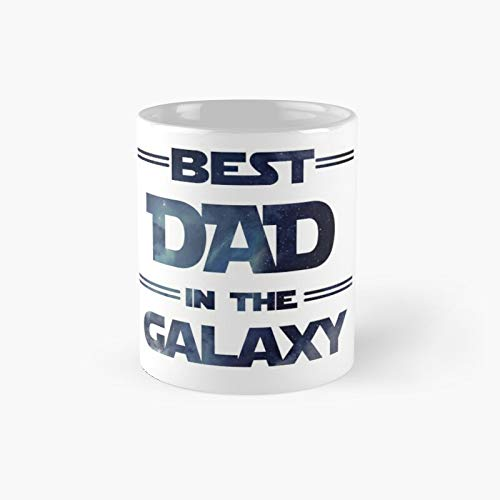 Best Dad In The Galaxy Classic Mug - Ceramic Coffee White (11 Ounce) Tea Cup Gifts For Bestie, Mom And Dad, Lover, Lgbt