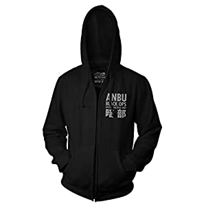 Ripple Junction Naruto Shippuden Anbu Black OPS Adult Zip Hoodie