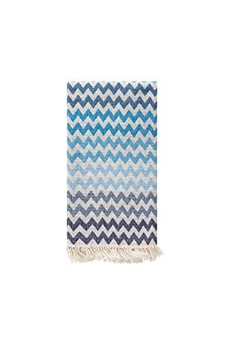 Captain & Mermaid Premium Strandtuch Beach Towel 100% Baumwolle (Zigzag Marine)