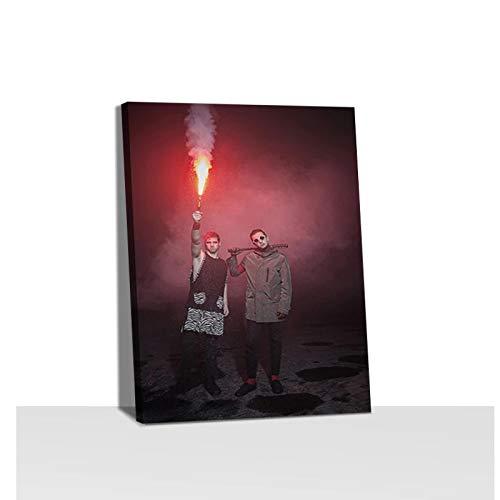 Gigoo Bombas de Humo y bengalas Cuadros de Pared Sala de Estar Decoración para el hogar Carteles Impresiones Arte Pintura en Lienzo Impresión sobre Lienzo 50x60 cm sin Marco