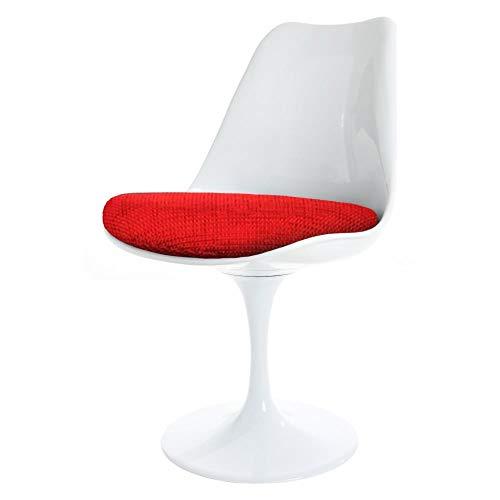 Eero Saarinen Chaise Tulipe Rouge Blanc et texturŽ Style