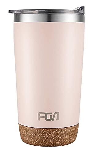 FGA Thermobecher Kaffeebecher to go Edelstahl Travel Mug 600ml Isolierbecher BPA-frei Reisebecher für heiße und kalte Getränke Pink