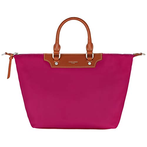 David Jones - Dames Handtas Nylon - Tote Shopper Waterdicht - Schoudertas Crossbodytas - Draagtas Grote Capaciteit - Elegant Mode Reis Werk Casual - Fuchsia