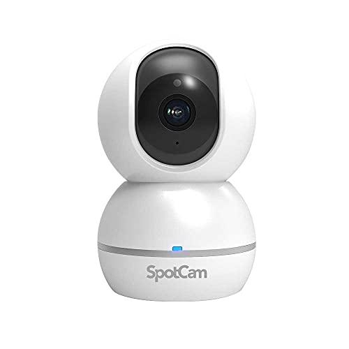 SpotCam Eva 2室内用1080p FHDナイトビジョン通話機能動態と音声アラートパンチルト人間追跡機能無料録画プ...