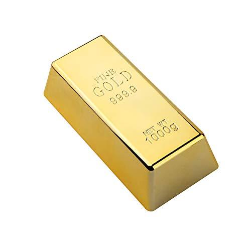 SMIN Tope para puerta de lingotes de oro falso/pisapapeles de ladrillo pesado