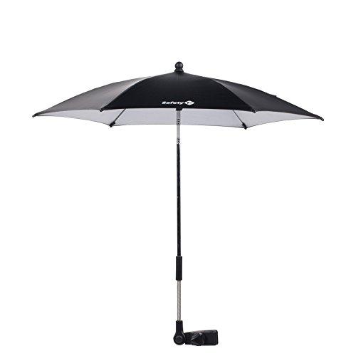 Safety 1st Sonnenschirm Parasol, passt azf fast alle Kinderwagen und Buggys, ca. 70 cm Durchmesser, ultra-schützend mit UV-Schutz 50+, schwarz
