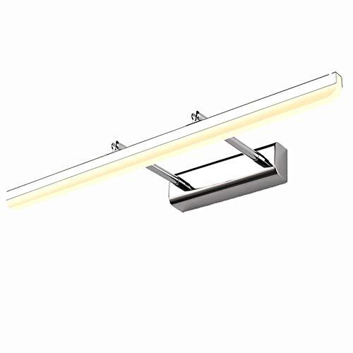 Looluuloo Moderne LED-wandlampen met chromen afwerking, binnen, 90 cm 70 cm 60 cm 50 cm 40 cm lange LED-lampen voor foto's 220 V