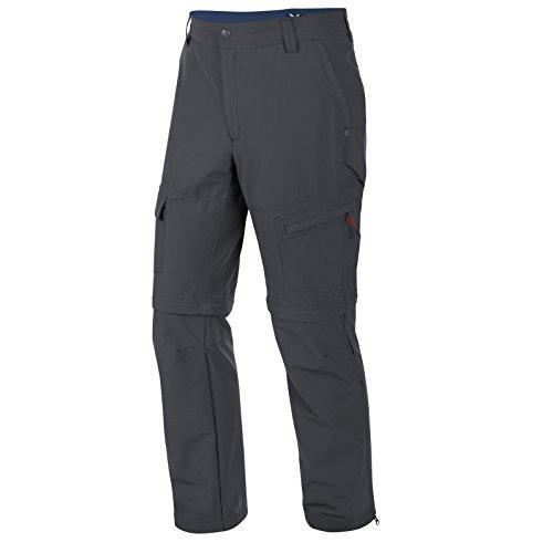 Salewa Fanes Valpar Dry Pantalon d'escalade 2 en 1 Transformable en Short, Homme, Kletterhose FANES VALPAR Dry 2/1 REG, Gris foncé, 54