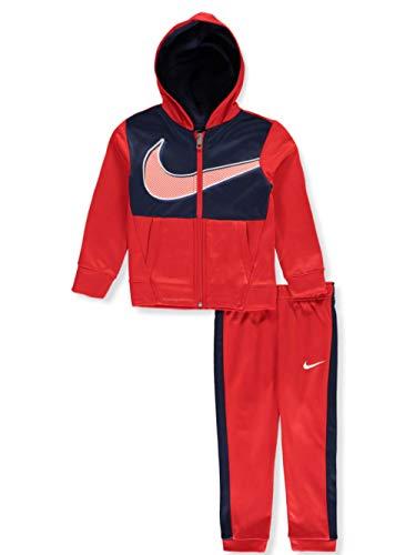 Nike Therma Dri-Fit - Pantalones de chándal para niño (2 piezas), color rojo