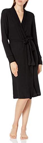 PJ Salvage Women s Loungewear Textured Basics Robe Black L product image