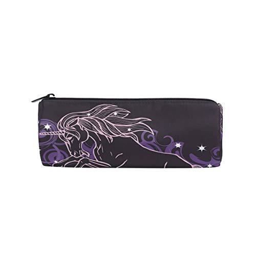 Trousse à crayons Licorne Étoile Nuage à fermeture éclair pour adolescents filles et garçons, sac de maquillage de voyage pour femme